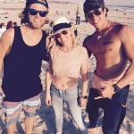 Carol Duboc with a couple of surfers who joined us for the video!