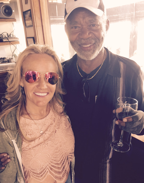 with the legend Hubert Laws at the Venice Ale House on break from shooting the Wavelength video