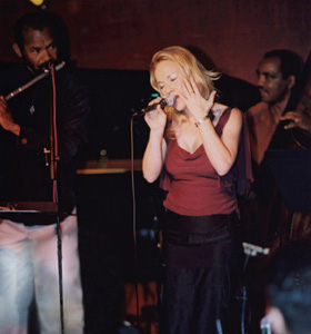 Carol Duboc, Tony Dumas and Hubert Laws at Catalina