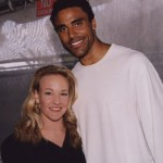 Carol with Rick Fox formerly of the L.A. Lakers