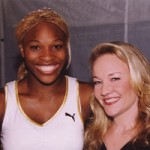 Carol with Serena Williams