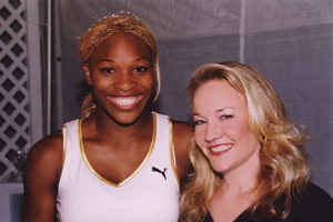 Carol with Serena Williams